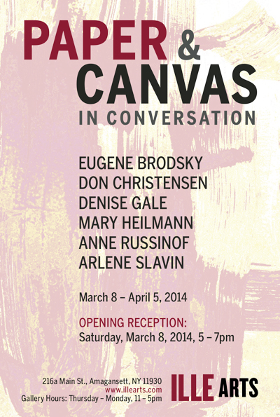 Announcement card for exhibition, 2014
