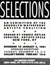 Announcement card for exhibition, 1991