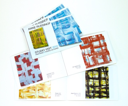 Artists's promotional catalog, 20pp, 2012
