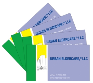 Business Cards for Urban ElderCare, 2015