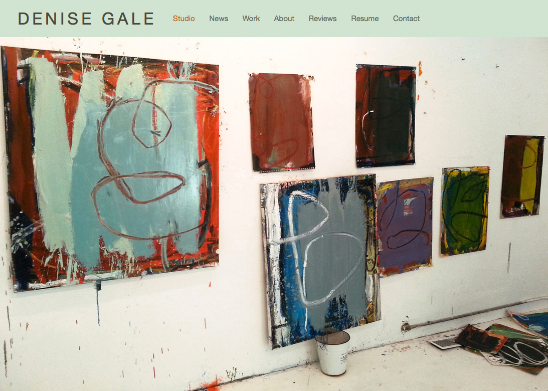 Artist's Website, 2015, Squarespace.com