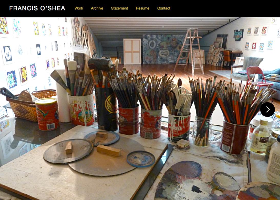 Artist's Website, 2015, Squarespace.com